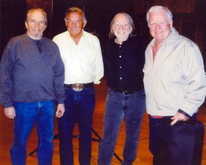 "Merle, Ray, Willie and Johnny ""A Mount Rushmore of Music,"" says Elana James."