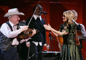 49th Annual Grammy Awards 2/11/2007, Los Angeles Johnny Gimble performs with Carrie Underwood