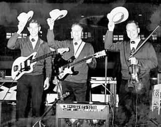 Rex Allen's Men of the West Mad Hatters: Johnny Gimble (r) with Rex Allen's Men of the West, circa 1963-64